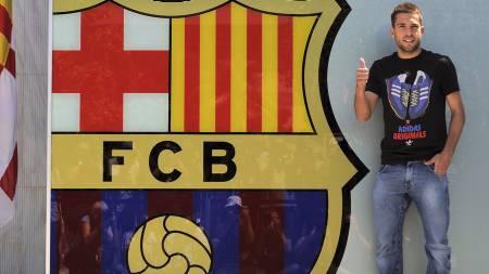 KLAR FOR BARCA: Barcelona har brukt 14 mill. euro av sitt overgangsbudsjett på Jordi Alba. (Foto: LLUIS GENE/Afp)
