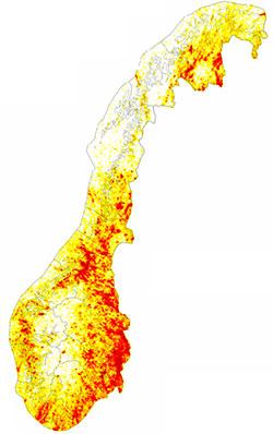 Her ble det registrert flest lyn i 2011. (Foto: SINTEF)
