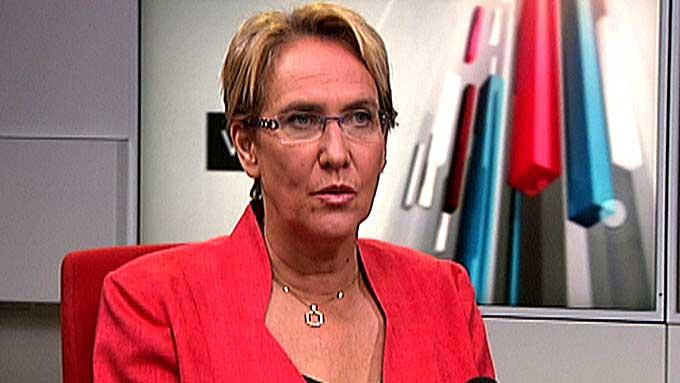 Hanne Marthe Narud i TV 2-studio foran valget i 2009.