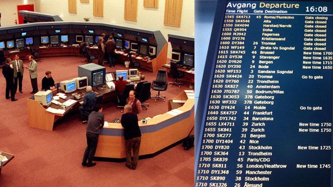 Problemene her ved Oslo kontrollsentral i Røyken fortsetter. I helgen fører det til store forsinkelser. (Foto: SCANPIX/TV 2)