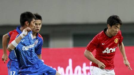 Shinji Kagawa i kampen mellom Manchester United og Shanghai Shenhua (Foto: Eugene Hoshiko/Ap)