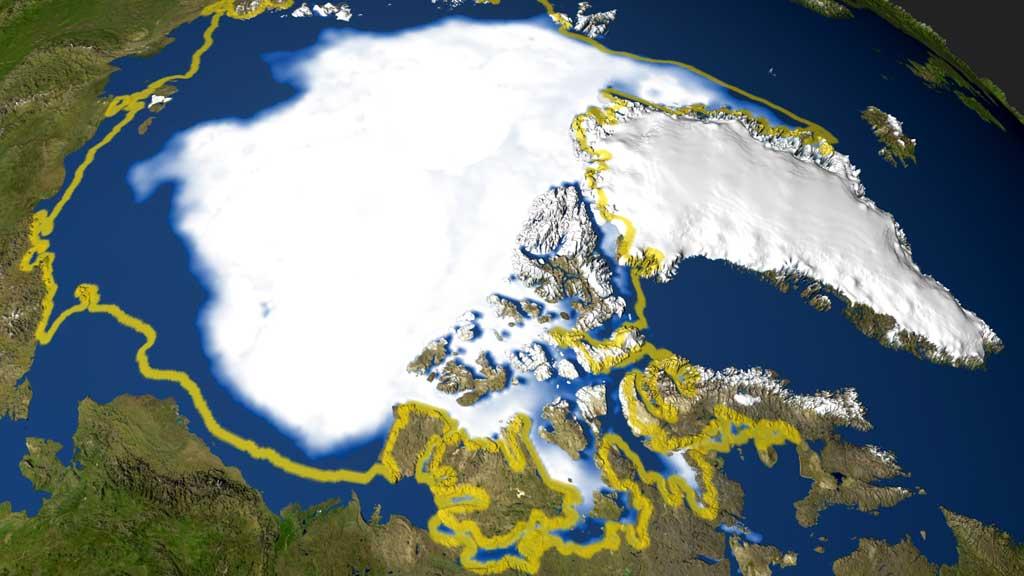 Nordpolen (Foto: AFP/NASA)