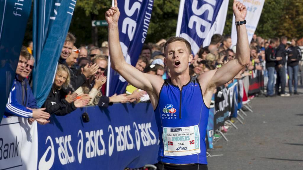 NY REKORD: Andreas Myhre Sjurseth vant Oslo Marathon i fjor. I år er det ny deltakerrekord. (Foto: Bendiksby, Terje/NTB scanpix)