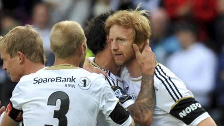 Rosenborg Per Verner Rønning etter mål mot Lillestrøm (Foto: Alley, Ned/NTB scanpix)