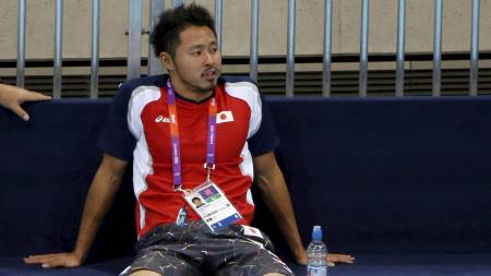 Kosuke Kitajima i Aquatics Centre før London-OL. (Foto: DAVID GRAY/Reuters)