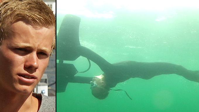 KJEDET SEG PÅ HAVET: Simon Sivertsen kjedet seg på jordomseiling, og begynte å eksperimentere med brødfjøler og tau. Resultatet ble undervannsleken Subwing. (Foto: TV 2 / subwing.com)