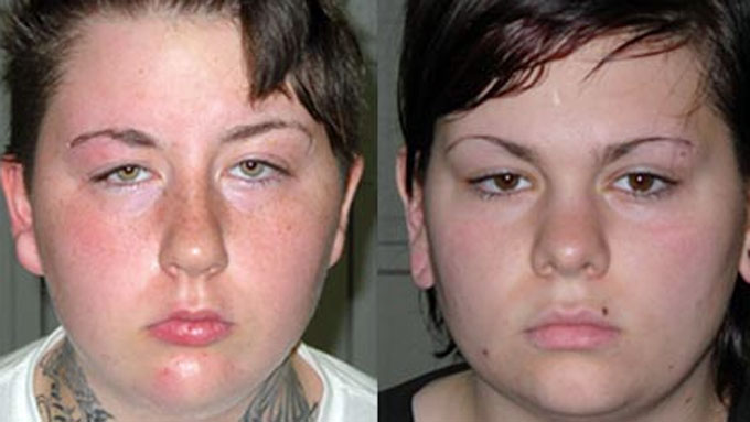 INNRØMMER ALT: Ashley Barber og Jade Olmstead. (Foto: Pennsylvania State Police)