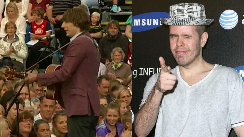 BLOGGER OM «ALLSANG»: Kjendisbloggeren Perez Hilton har delt Eric Hutchinsons opptreden fra TV 2 programmet.