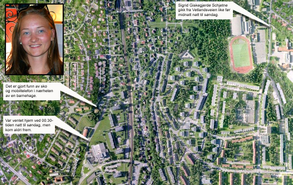 Kart-med-info og sigrid (Foto: Googlemaps/Montasje: TV 2)