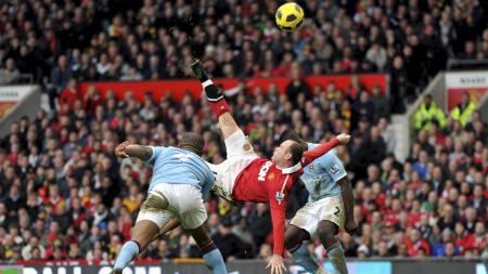 NUMMER EN: Dette er det peneste målet Wayne Rooney har scoret for Manchester United, ifølge ham selv. (Foto: Martin Rickett/Pa Photos)