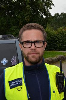 Operativ leder i Norske redningshunder Stig Mebust. (Foto: Jonas Fabritius Christoffersen / TV 2)