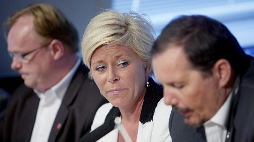 SINGEL-SIV? Om verken Per Sandberg eller Per Arne Olsen vil la seg gjenvelge som nestledere, er det helt åpent hvem som kommer inn i ledelsen. (Foto: SCANPIX)