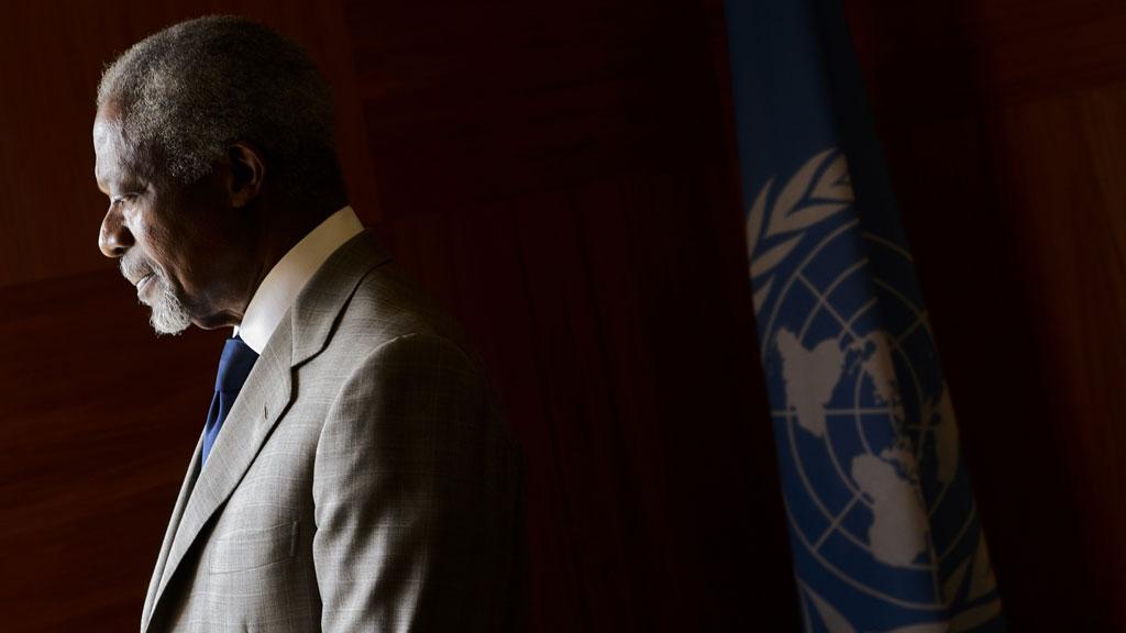 VIL HA EN ANNAN JOBB: Kofi Annan. (Foto: SCANPIX)