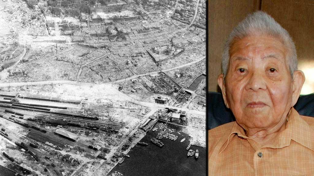 RASERT:Det var ikkje mykje igjen av dei to japanske byane etter  at atombombene vart slept over dei. Men Tsutomu Yamaguchi overlevde begge!  (Foto: Scanpix)
