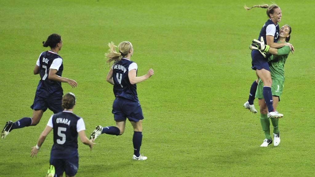 VANT: USA vant OL i fotball for kvinner. (Foto: GLYN KIRK/Afp)