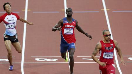 UTE AV OL: Jaysuma Saidy Ndure ble slått ut av OL i semifinalen på 200 meter for menn.  (Foto: Larsen, Håkon Mosvold/NTB scanpix)