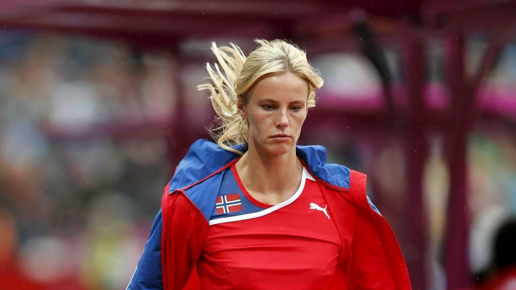 Margrethe Renstrøm måtte trekke seg fra kvalifiseringen i lengdehopp tirsdag kveld.  (Foto: Åserud, Lise/NTB scanpix)