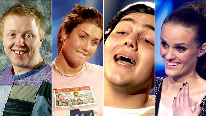 Tidligere idoler: Kurt Nilsen, Tone Damli Aaberge, Alejandro Fuentes og Jenny Langlo.  (Foto: TV 2)