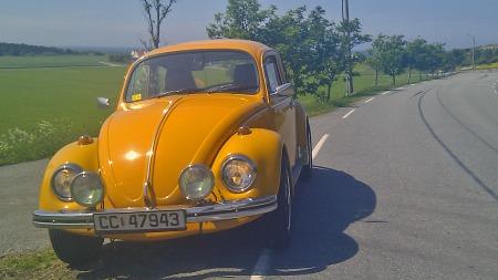 Nå er bilen klar, og byr på hyggelige kjøreopplevelser av godt, gammeldags merke. (Foto: Privat)