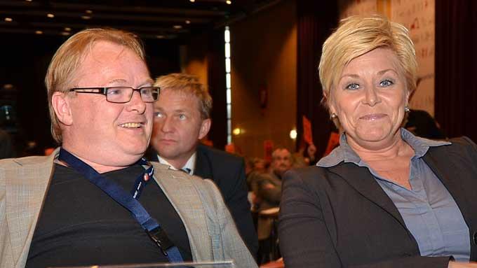 per sandberg og siv jensen (Foto: Ingvil Teige Stiegler/ TV 2)