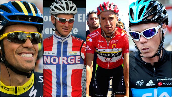 Contador, Rasch, Cobo, Froome (Foto: SCANPIX)