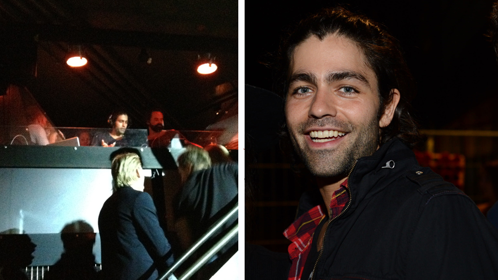 DJ-ADRIAN: Entourage-stjernen inntok DJ-båsen på utested Bar  Vulkan i Oslo fredag kveld.