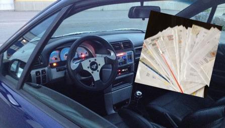 Når Daniel skal selge bilprosjektet sitt er det med tungt hjertet. Det er tross alt en bil han har lagt ned over 3000 arbeidstimer i - og har påkostet mer enn 300.000 kroner. Da blir det en god bunke kvitteringer med på kjøpet for den som legger 40.000 kroner på bordet.