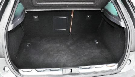 Bagasjerommet i en vanlig DS5. 468 liter.