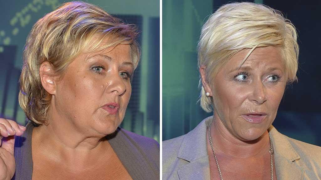 Erna Solberg og Siv Jensen (Foto: IngvilTeige Stiegler/TV 2)