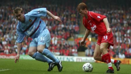 John Arne Riises Liverpool-debut (Foto: Neal Simpson/Pa Photos)