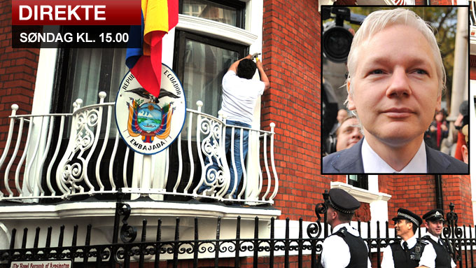 Assange_LIVE (Foto: AP)