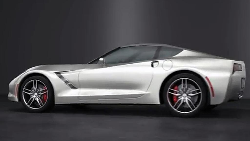 Mye tyder på at dette i grove trekk er syvende generasjon Chevrolet Corvette, som skal introduseres til modellåret 2014. Stemmer det, blir det altså ikke noe av midtmotor-ideen denne gangen - heller. (Foto: Trinity Animation / Youtube)