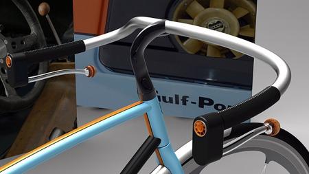 911-motorens ikoniske 8-blads kjølevifte er også med i designet på sykkelen - og entusiastene vil kjenne den igjen ved første øyekast. (Foto: davidschultz-id.com)