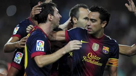 HELTENE: Gabriel skal snart få utfordre Lionel Messi, Xavi og resten av Barcelona til duell. (Foto: LLUIS GENE/Afp)