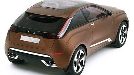 Slik ser Lada for seg en framtidig SUV/crossover med kompakte   mål. Dette er konseptbilen X Ray.