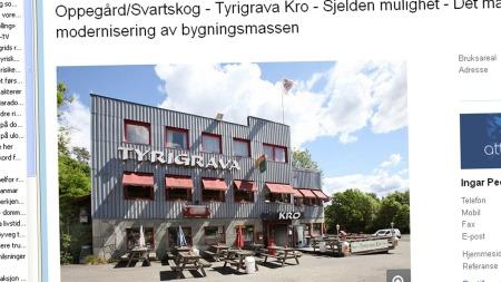 En av de mest tradisjonsrike samlingsstedene for bil- og motorinteresserte ungdommer i hele Oslo- og Follo-området er til salgs, og det manes til innsats for å redde stedet for fremtiden på Facebook. Faksimile: Finn.no