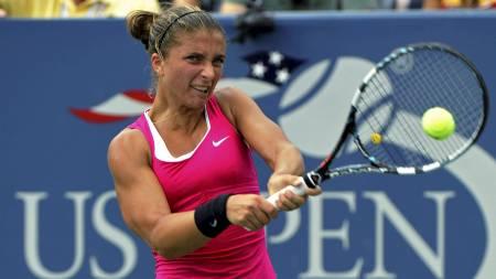Tennisspilleren Sara Errani ble første italienske kvinne i en US Open-semifinale. Hun møter der Maria Sjarapova. (Foto: RAY STUBBLEBINE/Reuters)