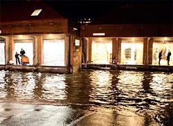 Mjøndalen stod under vann 6-7. august. (Foto: Joakim Fjeldli)