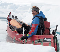 I 2011 forsøkte Gjeldnes å nå Norpolen med ski og kano. (Foto: Cecilie Skog)