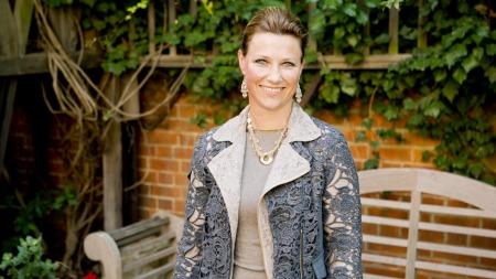 PRESSEKONFERANSE : Prinsesse Mätha Louise kallte inn til pressekonferanse om London-oppholdet tirsdag formiddag. (Foto: Meek, Tore)