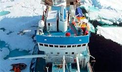 Forskningskipet Lance. (Foto: Norsk Polarinstitutt)