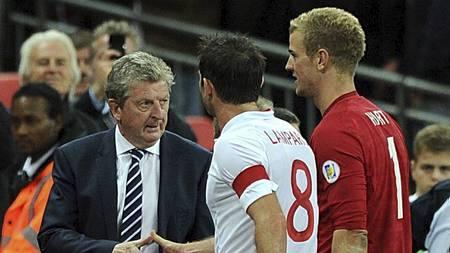 Roy Hodgson, Frank Lampard og Joe Hart (Foto: Anthony Devlin/Pa Photos)