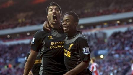 REDDET LIVERPOOL: Luis Suárez var på vakt og scoret Liverpools eneste mål mot Sunderland. (Foto: Steve Drew/Pa Photos)
