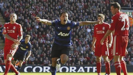 Liverpool-Manchester United 2011 (Foto: Peter Byrne/Ap)