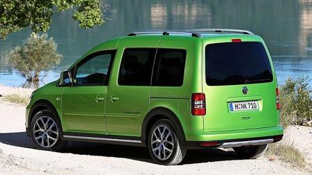 Med sorte ruter og stylingpakke - samt svært karakteristisk grønnfarge - er dette en Caddy som skiller seg ut blant de andre varebilene.