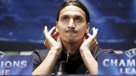 BRYR SEG IKKE: Zlatan Ibrahimovic bryr seg ikke om Adriano Gallianis uttalelser. (Foto: KENZO TRIBOUILLARD/Afp)