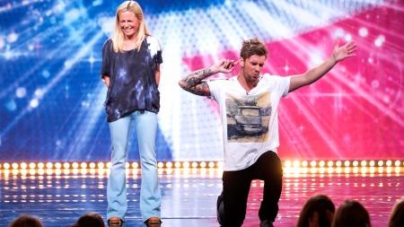 Solveig Kloppen og Stian Blipp i Norske Talenter (Foto: Thomas Reisæter/TV 2)