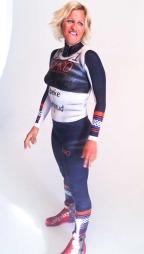 Vibeke Skofterud kroppsmalt i Team NPro-drakt. (Foto: PER ANGELL BERNTSEN)
