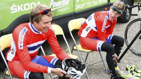 Edvald Boasson Hagen og Lars Petter Nordhaug . (Foto: unknown/)