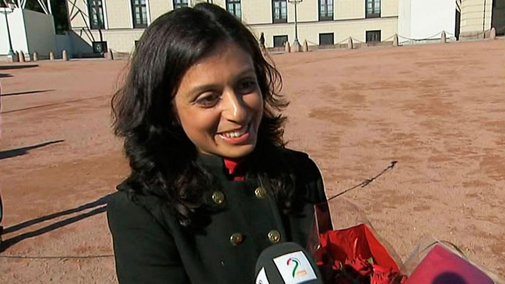 GLAD OG MOTIVERT: Hadia Tajik ser frem til å ta fatt på Kulturløftet 3. (Foto: TV 2)